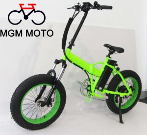 Suspension Fork 20′ Fat Tire Folding Electric Bike pictures & photos