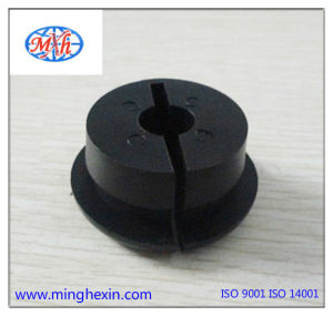 Black Plastic Nylon Round Injection Part with ISO SGS