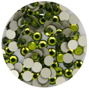1440 PCS Ss10 (2.8mm) High Quality Crystal Flatback Rhinestones - Olive Green (Olivine 228) No Hotfix pictures & photos
