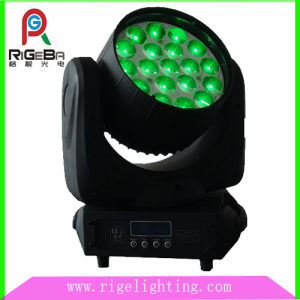 Stage 19 LEDs 12W 4 in 1 RGBW Disco Zoom Moving Head Light pictures & photos