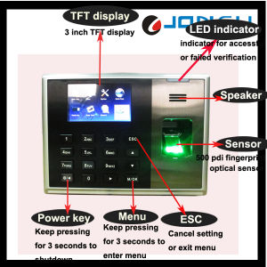 Zk Biometric Fingerprint Reader Time Attendance (tx628) pictures & photos