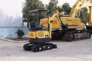Carter CT16-9bp (Canopy&zero tail) Backhoe Crawler Mini Excavator with Retractable Chassis pictures & photos
