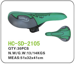Leather MTB Saddle, Green and Grey (SD-2105) pictures & photos