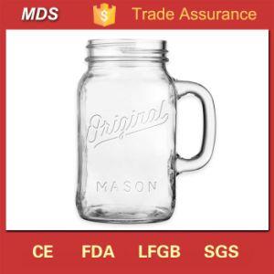 Glassware Original Handled Chalk Embossed Mason Jar Designs pictures & photos