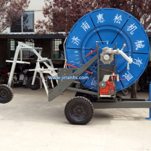 Newly Retractable Spray Water Mobile Farm Hose Reel Irrigation System pictures & photos