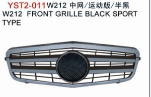 ABS Plastic Chrome Auto Parts, Black Front Grille for Mercedes W212 Series Amg/E63 09-11
