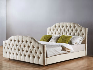 High Quality Fabric Bedroom Bed, Simple Bed (A22) pictures & photos