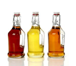 Glass Olive Oil and Vinegar Dispenser Bottle with Swing/Flip Top