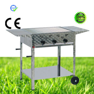 Gas Barbecue Grills with Table, Wheels pictures & photos