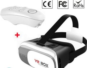 Promotional Cardboard Virtual Realityvr Smartphone 3D Glass with Bluetooth Handle pictures & photos