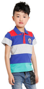 Custom Sublimated Mens Women Kids Dry Fit Striped Bulk Golf Polo T Shirt Men Wholesale China 100% Cotton T-Shirt Tshirt pictures & photos