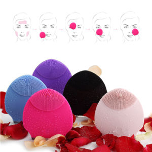 Electric Facial Pore Cleaner Massage Brush Waterproof Silicone Vibration Face Cleansing Brush Facial Deep Cleaning Skin Care pictures & photos