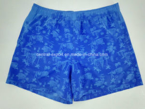 Allover Invisible Printed Microfiber Polyester Twill Full Elastic Men Board Short pictures & photos