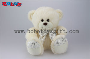 Hot Sale Beige Baby Gift Plush Stuffed Animal Bears with Heart Printting Ribbon pictures & photos