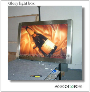 Single Side Stainless Scrolling Poster Lightbox with CE Approved pictures & photos