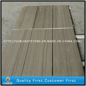 China Wood Grey/Athen Grey Wood Marble Kitchen Flooring Tiles pictures & photos