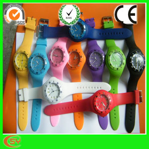 Promotion Colrful Silicone Wrist Watch for Girl (SY-GB115)