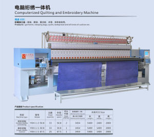 Yuxing Industrial Quilting & Embroidery Machine for Quilt Wear, 33 Head Computer Dress Embroidery Sewing Machinery Dongguan pictures & photos