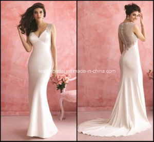 V-Neck Bridal Gowns Mermaid White Applique New Wedding Dresses Y2035 pictures & photos