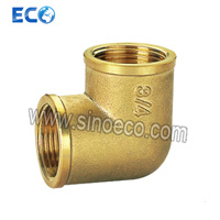 Brass 90 Degree Reduced Female Elbow Pipe Fitting pictures & photos