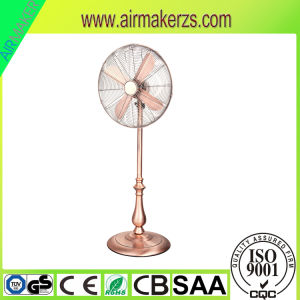 16′′ 18′′ Powerful Cooling Retro Copper Metal Pedestal Standing Fan pictures & photos