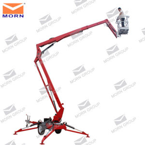 12m Battery Power Hydraulic Articulated Trailer Towable Boom Lift for Sale pictures & photos