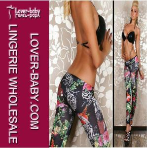 Sexy Tight Legging with Printed Flowers (L9465) pictures & photos