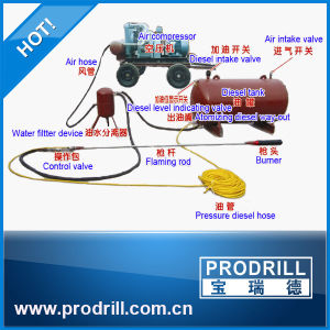 Diesel Oil Powered Flame Jet Burner for Granite Quarry pictures & photos