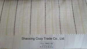 New Popular Project Stripe Corss Organza Voile Sheer Curtain Fabric 008269 pictures & photos