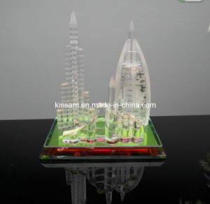 Crystal Dubai Building Model Tourist Craft for Gift pictures & photos