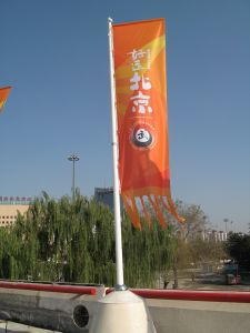 Popular Street Banner Flag Roadside Vertical Banner pictures & photos