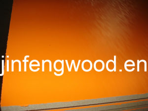 ISO9001: 2008 Certificate 100% Popar Core Melamine MDF Pure Orange Color pictures & photos