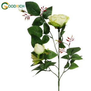 Wholesale Cheaper Artificial Flower with 3 Heads pictures & photos