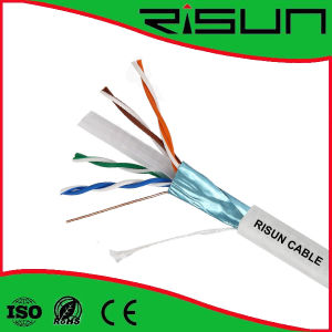 Solid Bare Copper FTP CAT6 LAN Cable 305m Package with White PVC Jacket pictures & photos