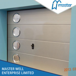 Non-Finger Protection Single / Double Track Automatic Galvanized Steel Insulated Used Garage Doors Panels Prices with Pedestrian Doors pictures & photos