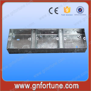 China 3*6 Two Gang Double Electrical Metalic Outlet Boxes - China ...