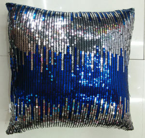 Sequin Embroidery Cushion Fashion Decorative Pillow (XPL-17) pictures & photos