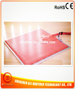 220V 900W Silicone Rubber Heated Bed Flexible Heater pictures & photos