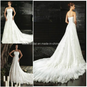 Strapless Lace Bridal Gowns Custom Wedding Dresses Z5061 pictures & photos