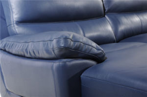 L Shape Leisure Leather Sofa with Recliner Function pictures & photos