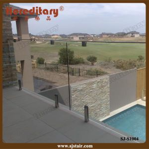 Frameless Glass Railing with Glass Clamp Exterior (SJ-S1004) pictures & photos