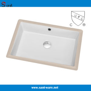 Nice Design New Cupc Undermount Square Bathroom Porcelain Sink (SN019) pictures & photos