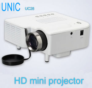 Uc 28+ Projector for Theater, PC Laptop VGA Input All in One Mini Projetor with SD and USB Input