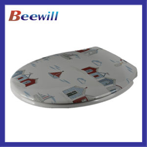Duroplast Material Decorated Designer Toilet Seat pictures & photos