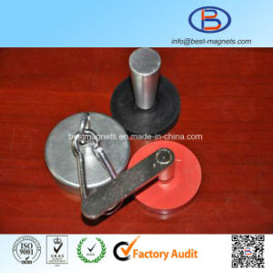 ISO Factory of Neodymium Rubber Coated/Coating/Covering Magnet Pot/Gripper pictures & photos