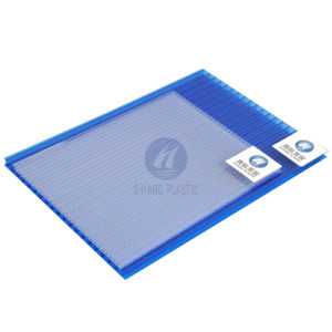 Blue Polycarbonate Hollow Sheet with Uvprotection for Decoration pictures & photos