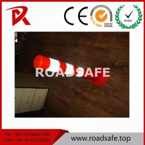 Security 75cm EVA Safety Traffic Flexible Bollard Spring Delineator Post pictures & photos