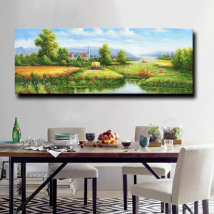 Beautiful Scenery Wall Painting Impressionist Forest Road Home Decor Oil Painting on Canvas Chinese Natural Village Scenery pictures & photos