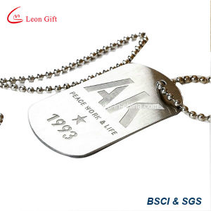 Round Shape Enamel Cheap Dog Tag with Ball Chain pictures & photos