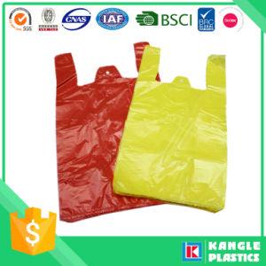 Plastic Plain T-Shirt Bag on Block pictures & photos